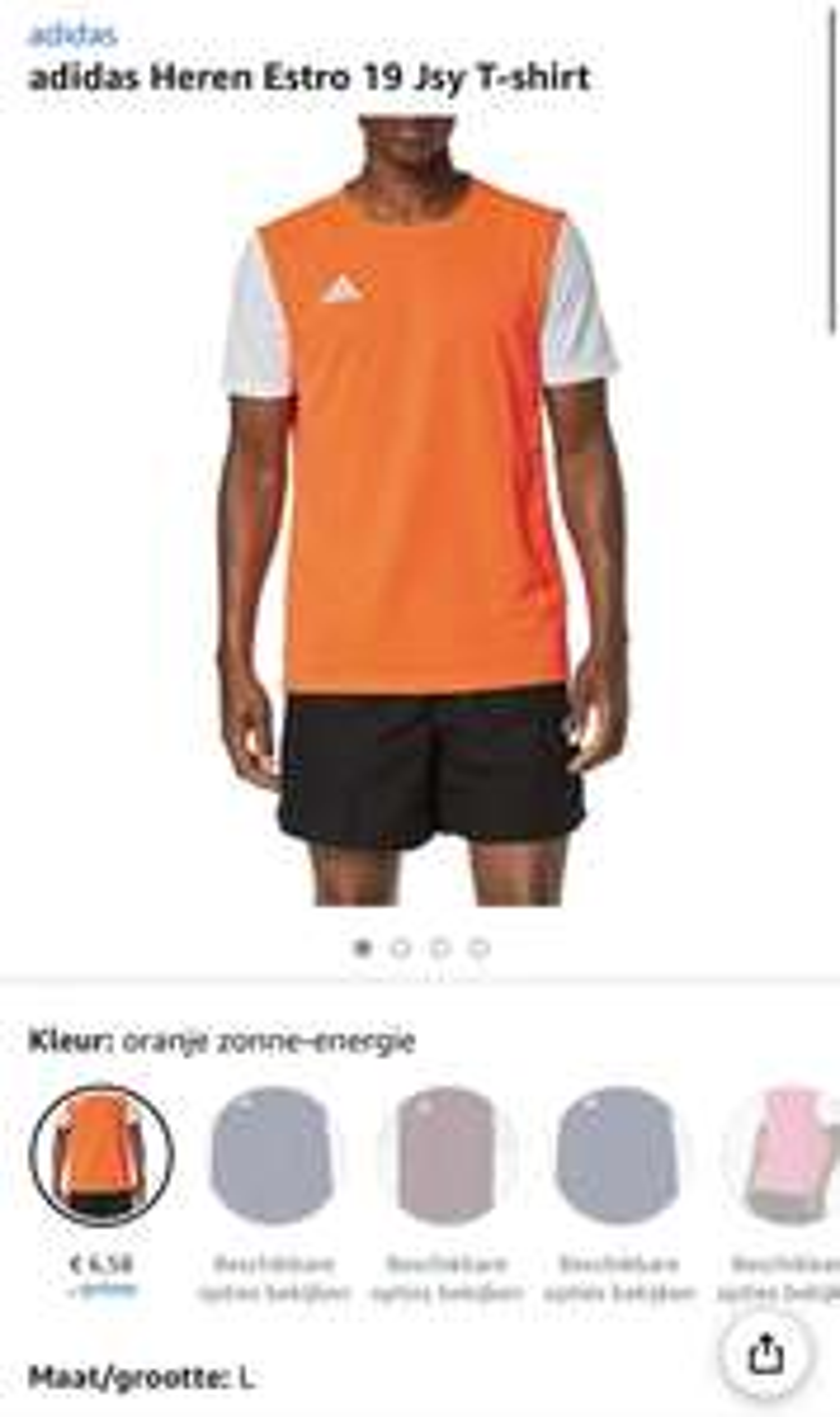 adidas Heren Estro T-shirt vanaf €6,58