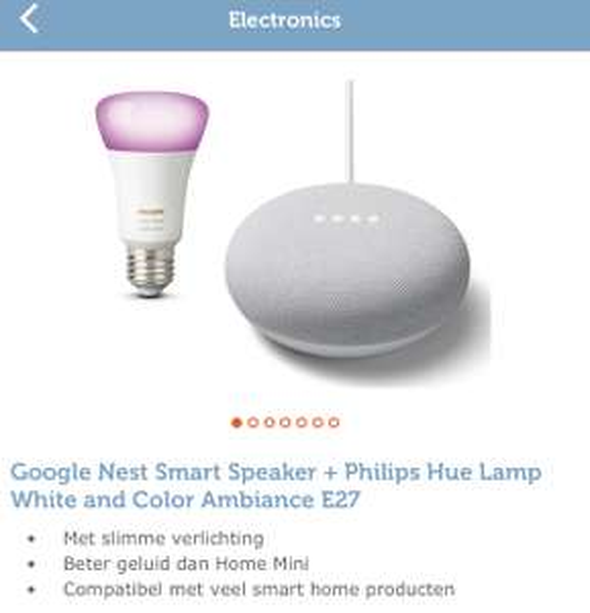 Googlez Nest Smart Speaker + Philips Hue Lamp White and Color Ambiance E27