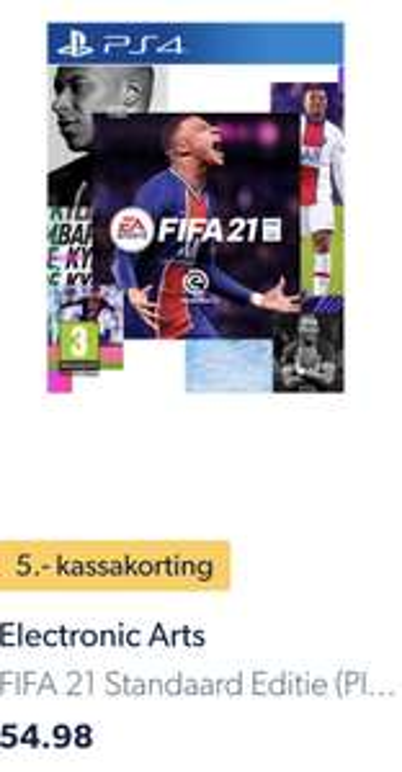 FIFA 21 5 euro kassakorting