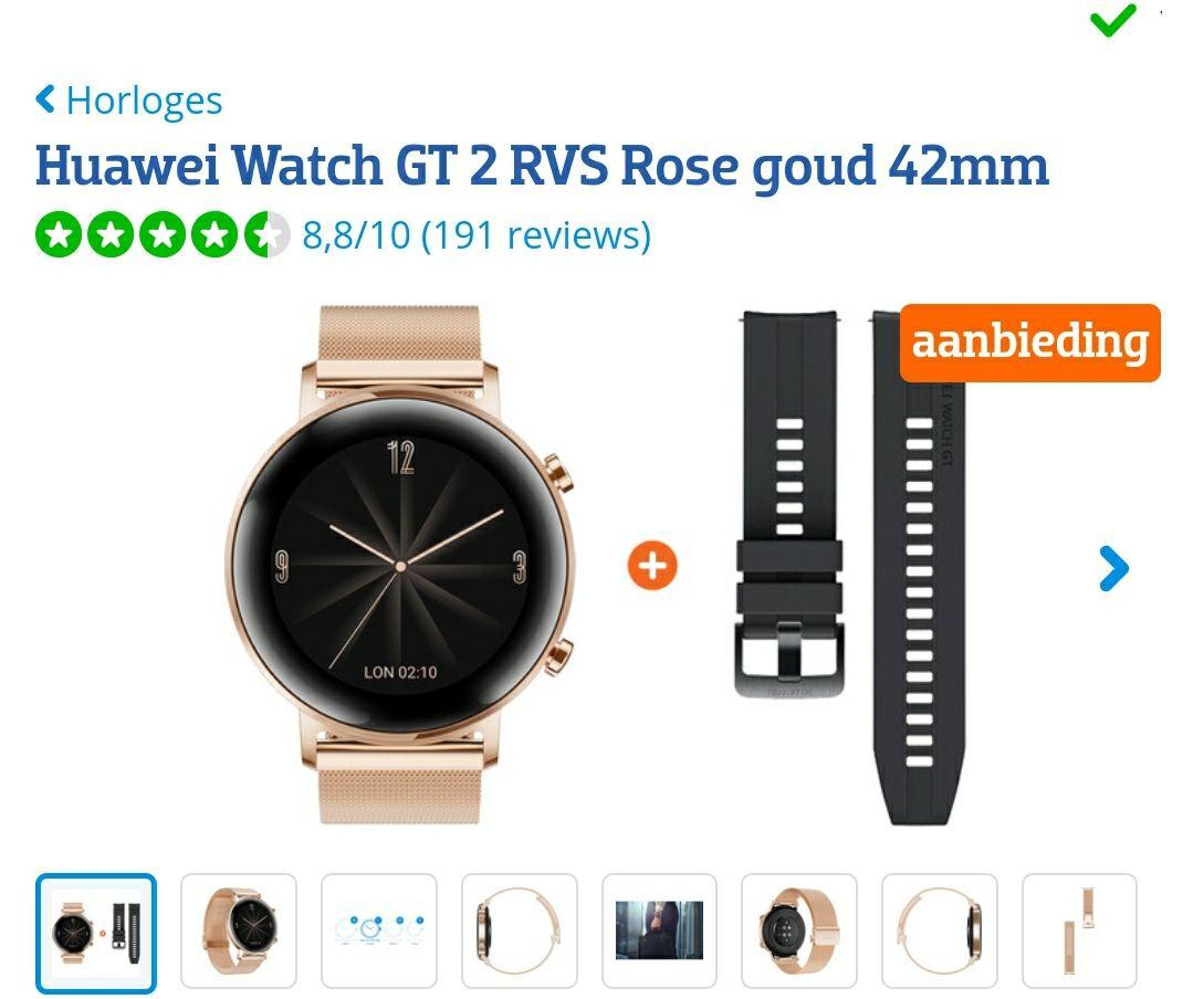 Huawei GT watch2 rosé 42 dames