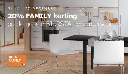 20% korting op de gehele BJURSTA eetkamerserie @ IKEA
