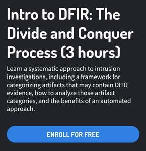 Intro to DFIR: The Divide and Conquer Process (3 hours) [GRATIS]