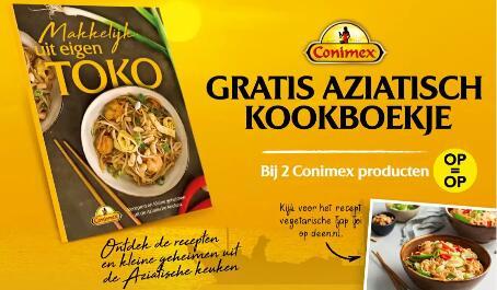 Conimex kookboek bij aankoop 2 Conimex prod. (ook in aanbieding) - V.a. €1,10 @ DEEN