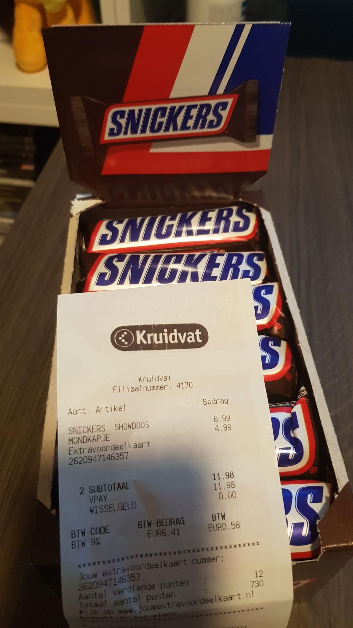 [LOKAAL?] Snickers 24 stuks @ Kruidvat Vught marktveld