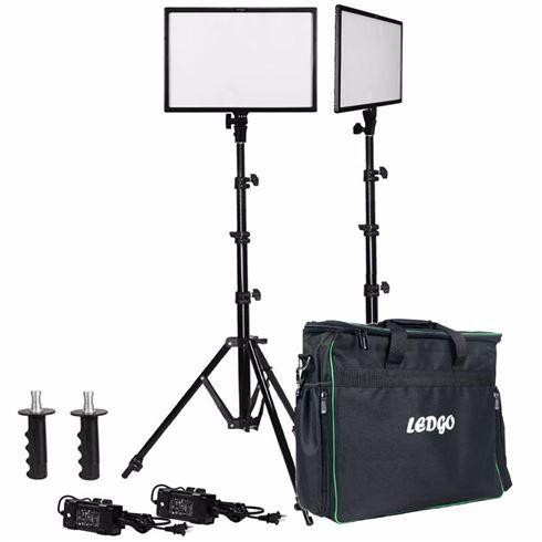 Ledgo E268CII Bi-Color kit 2x LED + 2x Statief + Tas