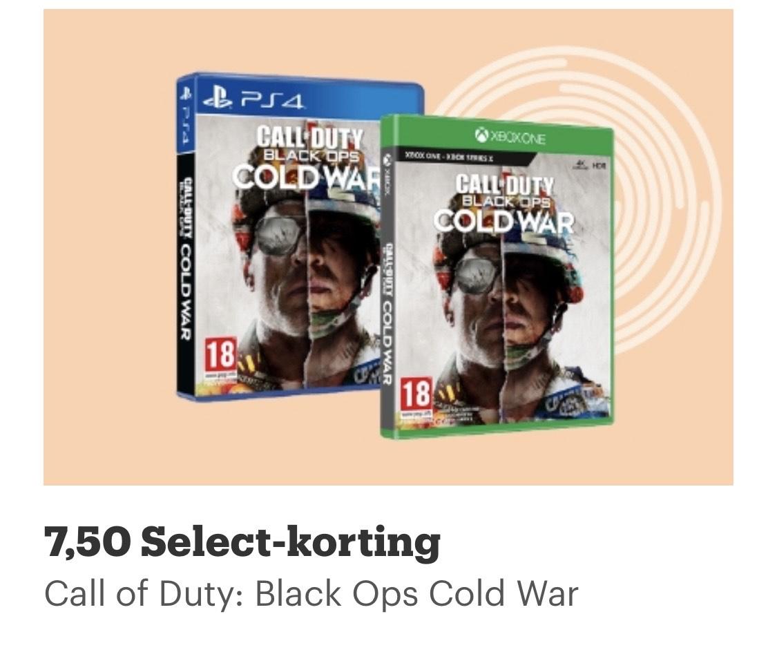 € 7,50 korting op COD Cold War met Select! (PS4 prijs als voorbeeld genomen) @Bol.com