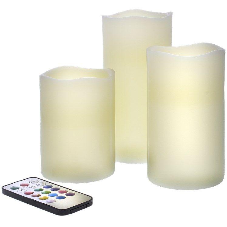 Set van 3 LED kaarsen met afstandsbediening voor €4,92 @ Action