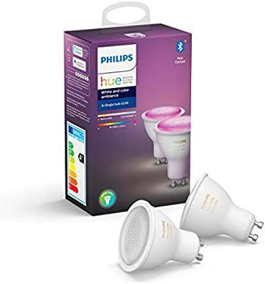 Philips Hue GU10 met Bluetooth, Color Spot 2-Pack