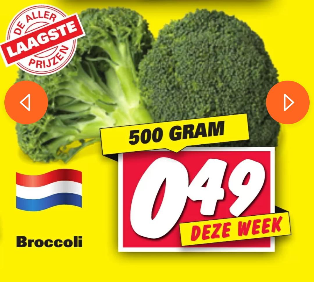 500gr Broccoli van eigen bodem voor €0,49 @ Nettorama