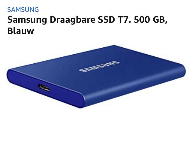 SSD: Samsung T7 500GB