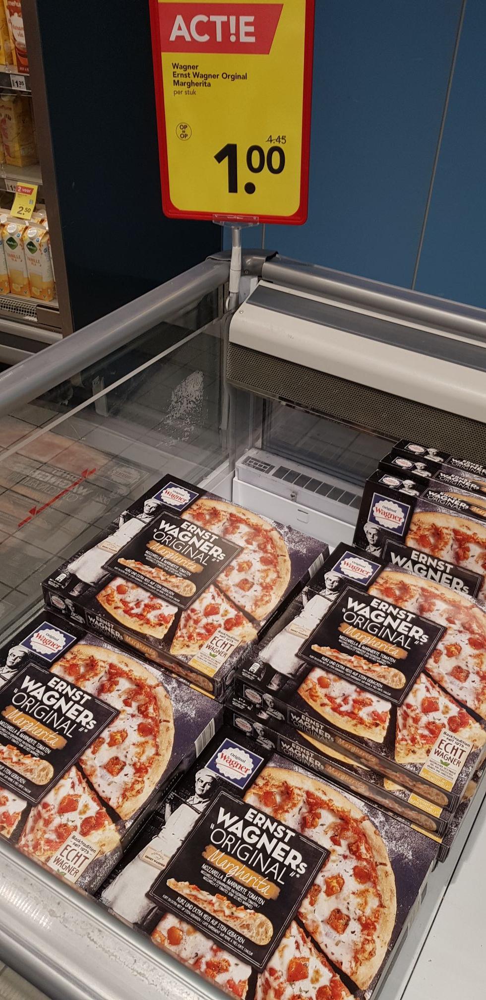 [Lokaal hoorn]Wagner pizza 1euro per stuk normaal 4,45
