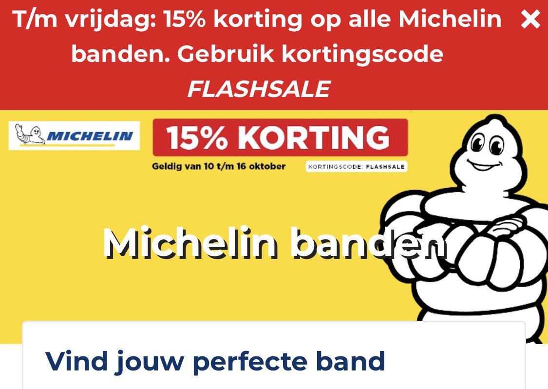 15% Korting @ Michelin Banden - Kwik Fit