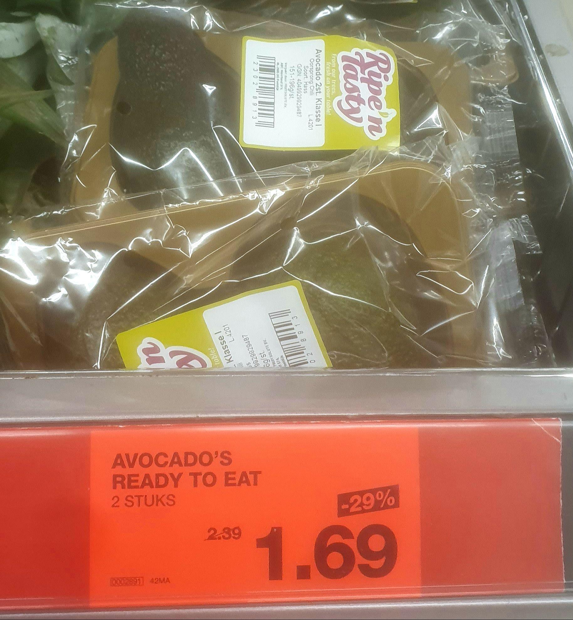 Ready-to-eat Avocado's - 2 stuks
