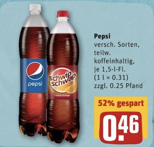 [GRENSDEAL DE] Pepsi & Schwip Schwap 1,5 liter @ REWE