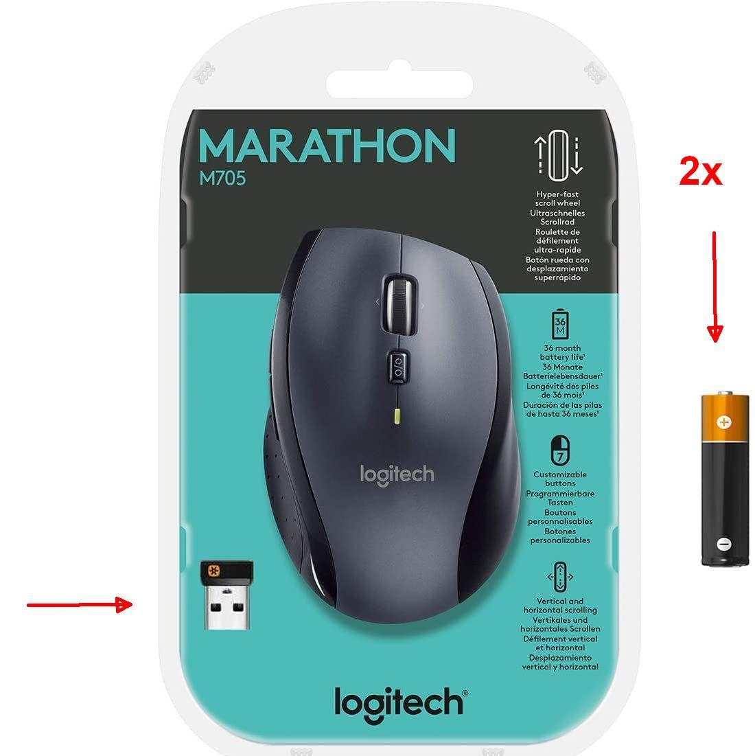 Logitech Marathon Mouse M705 met Unifying USB-ontvanger @Amazon NL