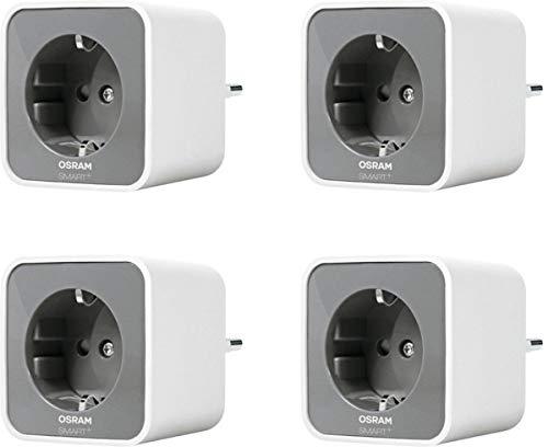 4x OSRAM Smart+ Plug, ZigBee schakelbaar stopcontact, compatibel met Philips Hue Bridge