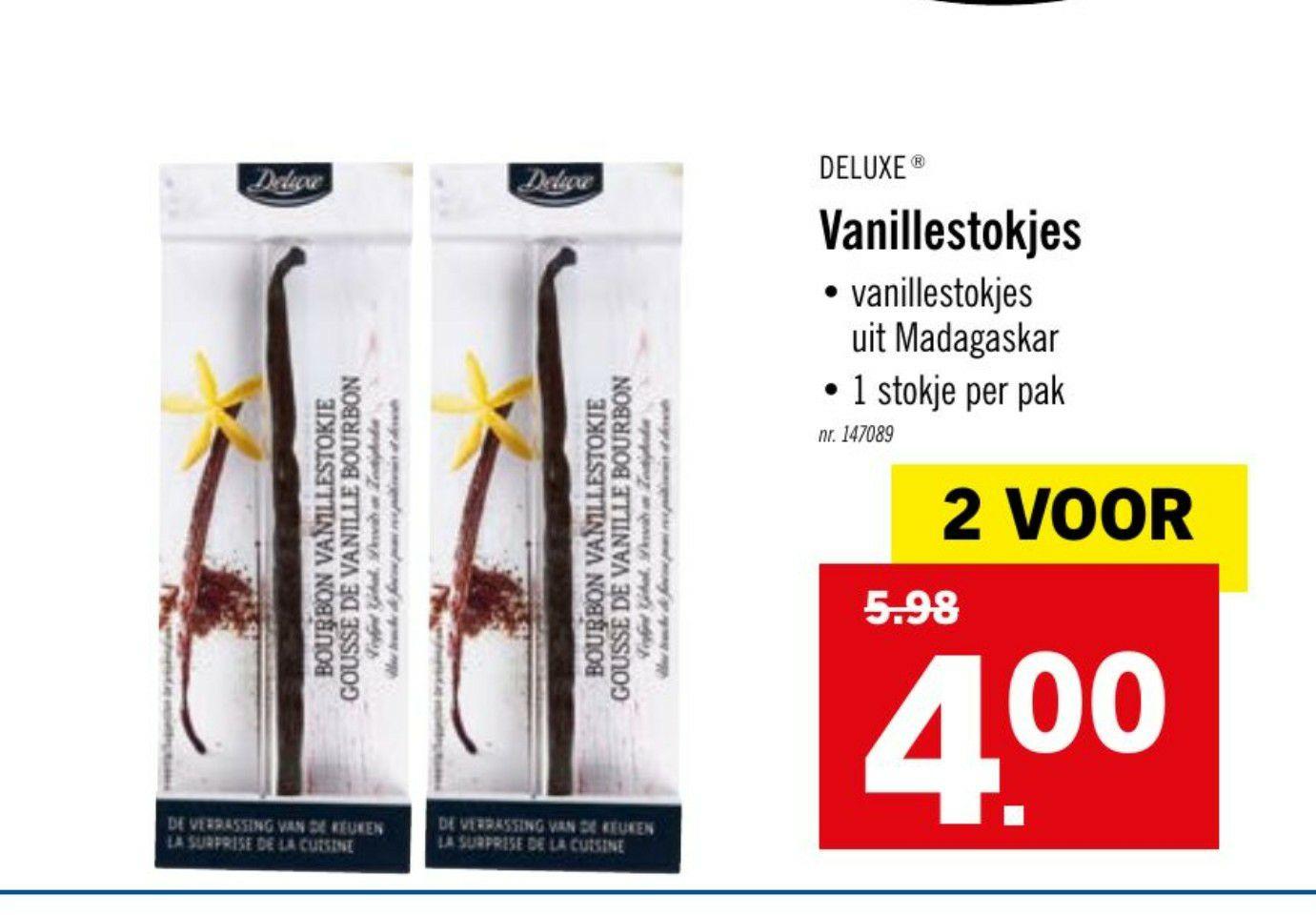 [GRENSDEAL BELGIË] 2 vanillestokjes voor €4 bij Lidl