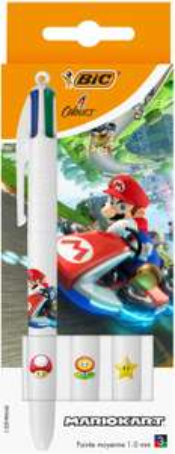 Bic vierkleurenbalpen Mario Kart 3 stuks @amazon.fr