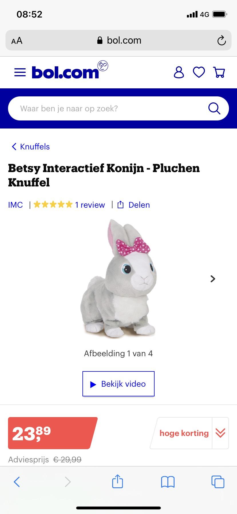Betsy interactief konijn (van de reclame)