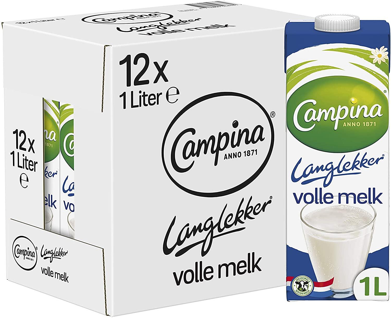 [PRIME] Campina Langlekker Volle Melk 12 x 1L