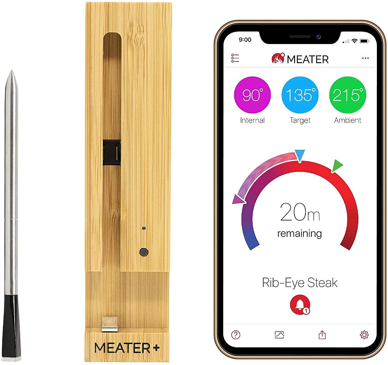 MEATER Plus   De ultieme draadloze slimme vleesthermometer met een bereik van 50 m