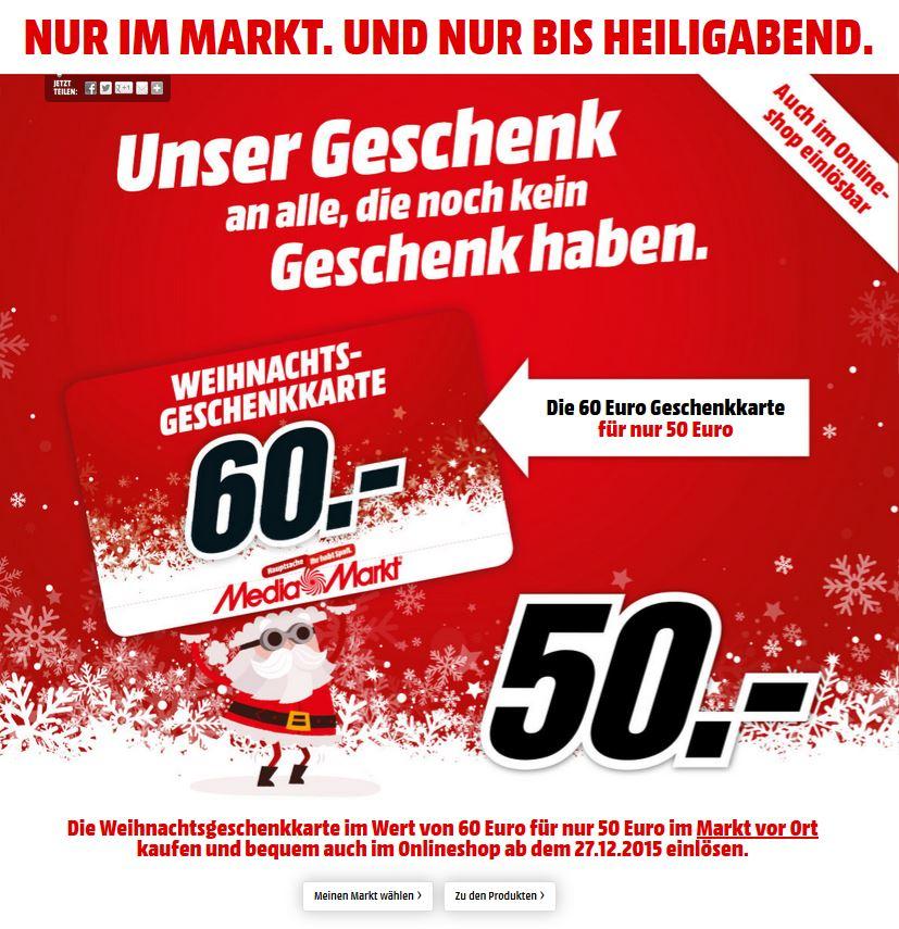 €60 giftcard voor €50 @ Media Markt Duitsland