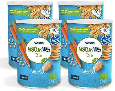 Naturnes Bio Nutripops Wortel 10+ Maanden Baby Tussendoortje 4 Hersluitbare Blikjes(primeday) meer aanbiedingen in de omschrijving.