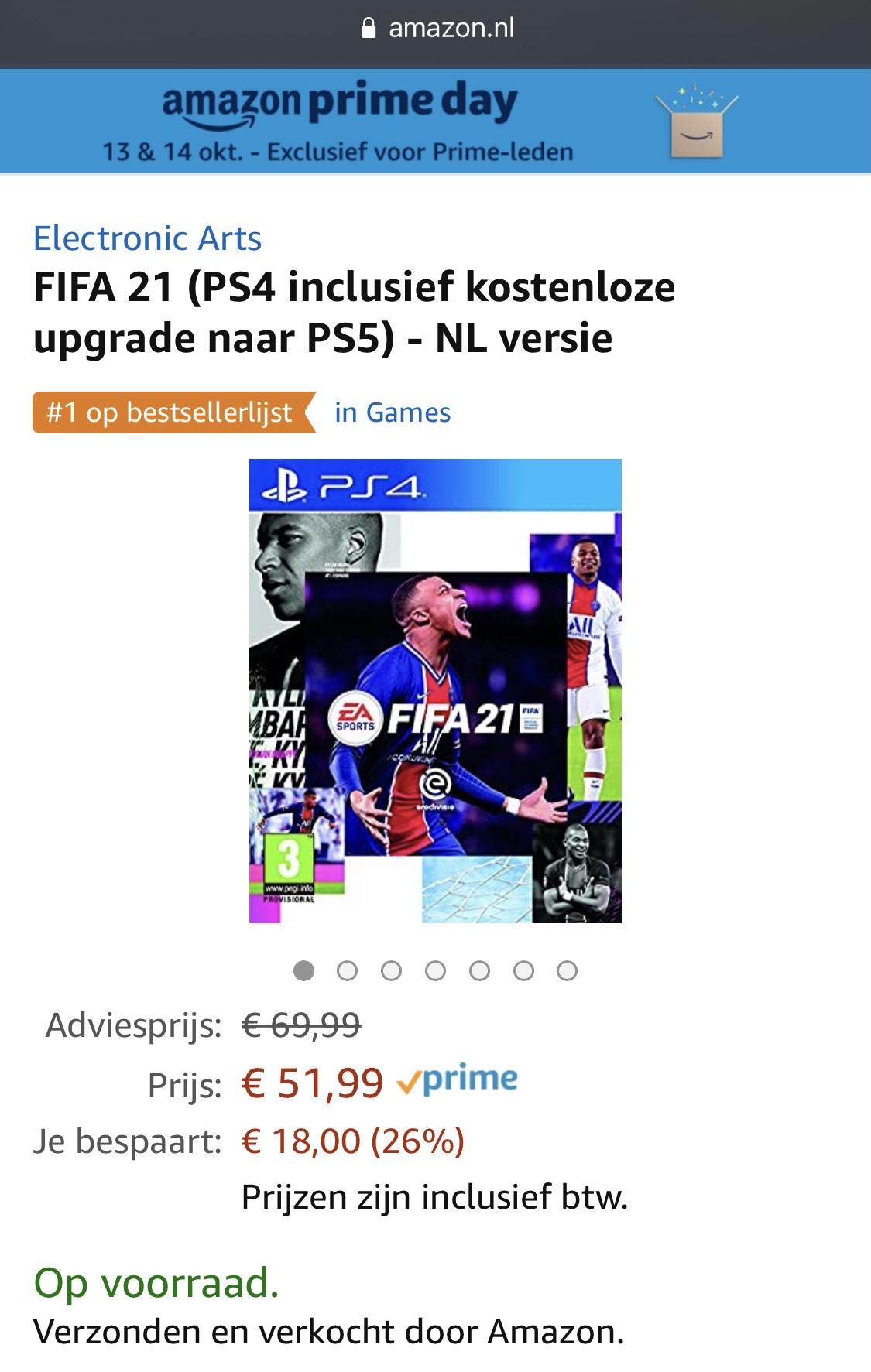 Fifa 21 NL versie voor PS4