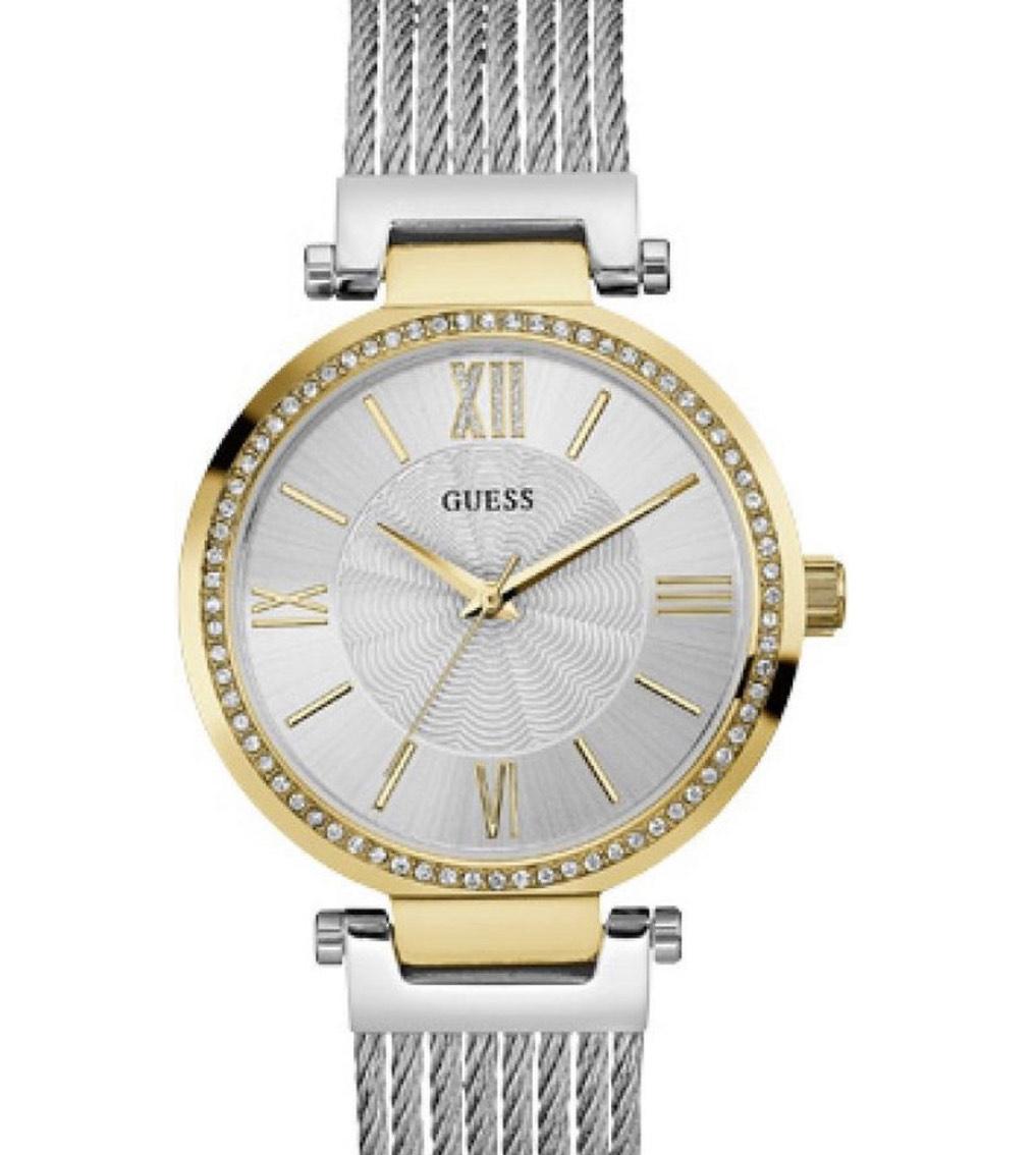 GUESS W0638L7 Dames RVS horloge @ Bol.com