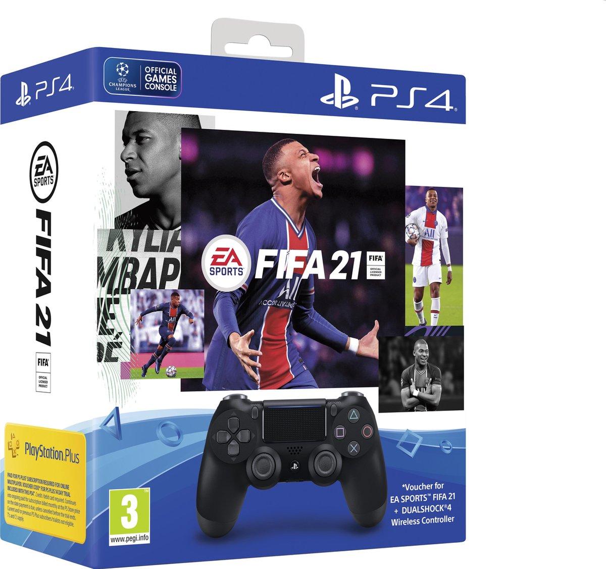 Sony DualShock 4 V2 + FIFA 21 + PS plus 14 dagen @ Amazon.de (Prime)