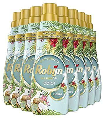 Robijn kokos wasmiddel 8 flessen 20 euro