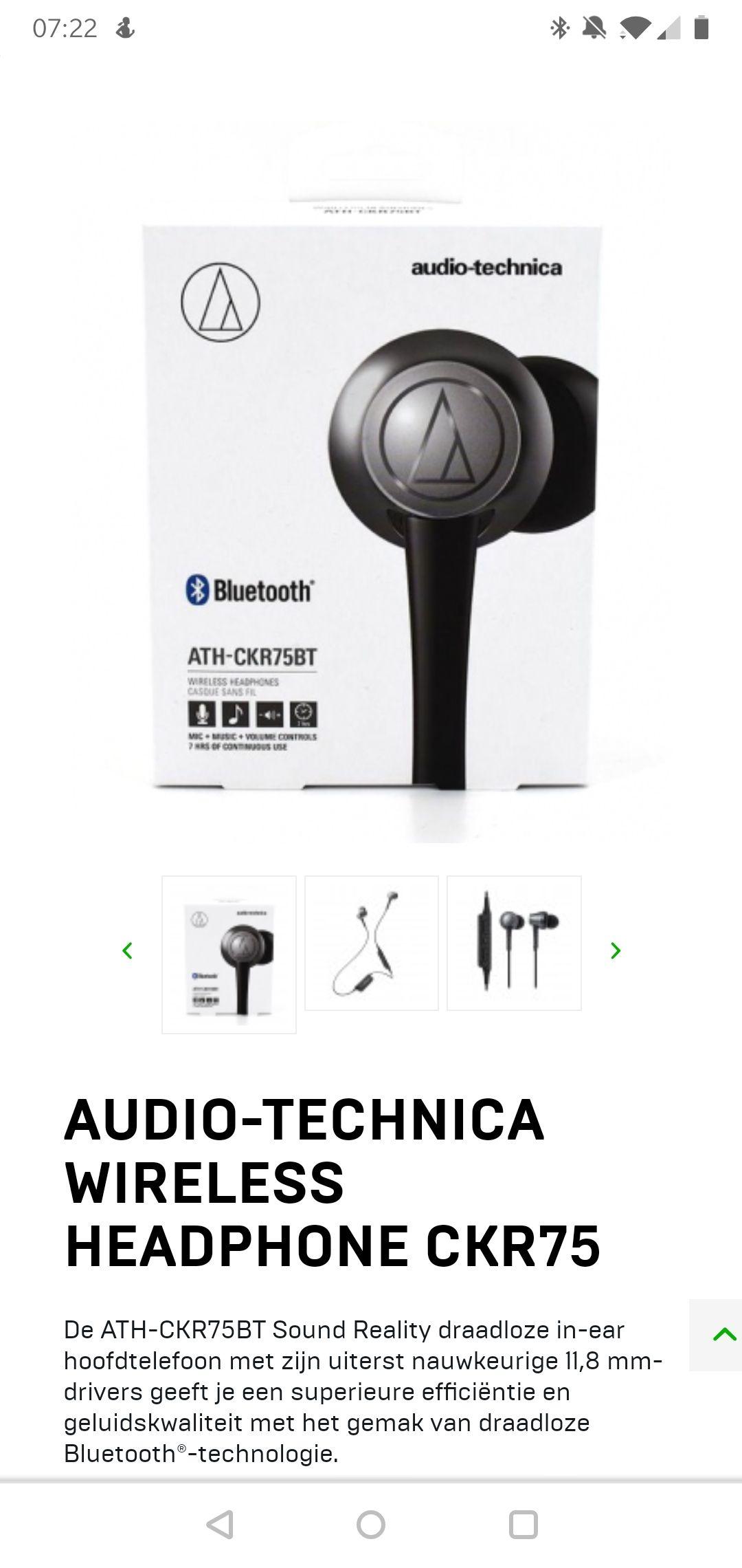Audio-Technica Wireless Headphone CKR75