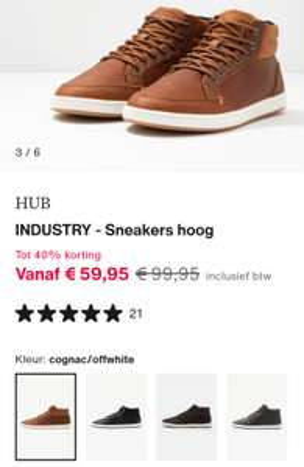 HUB Sneakers tot 50% korting bij Zalando mid-season sale.