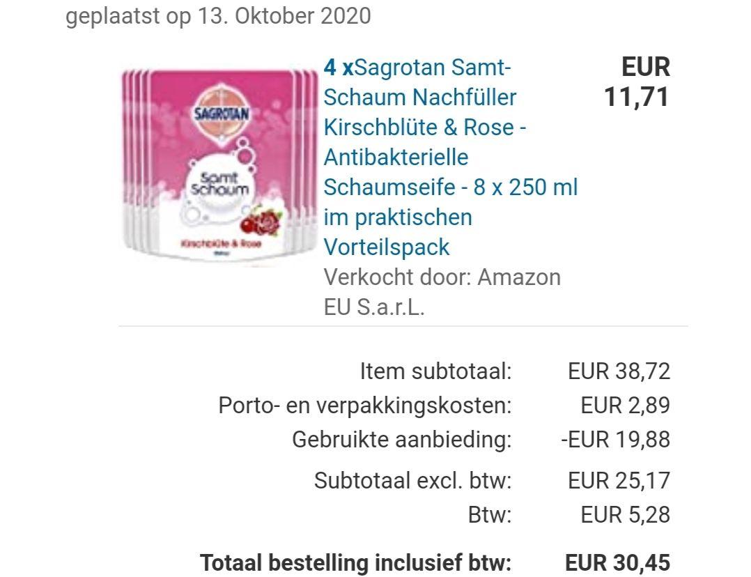 Sagrotan / Dettol foam navulverpakkingen (32 stuks)