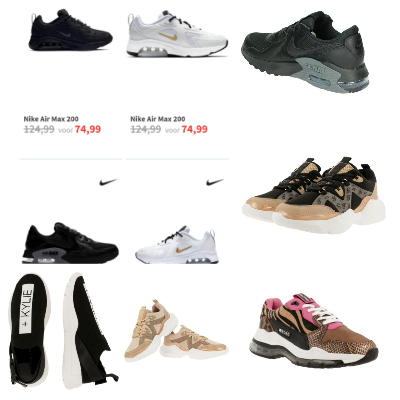 Nike air max en andere sneakers intersport twinshop en V&D