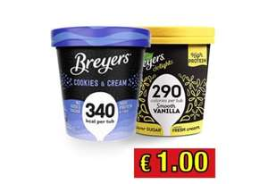Budget Food - Breyers Ijs 465ml voor €1