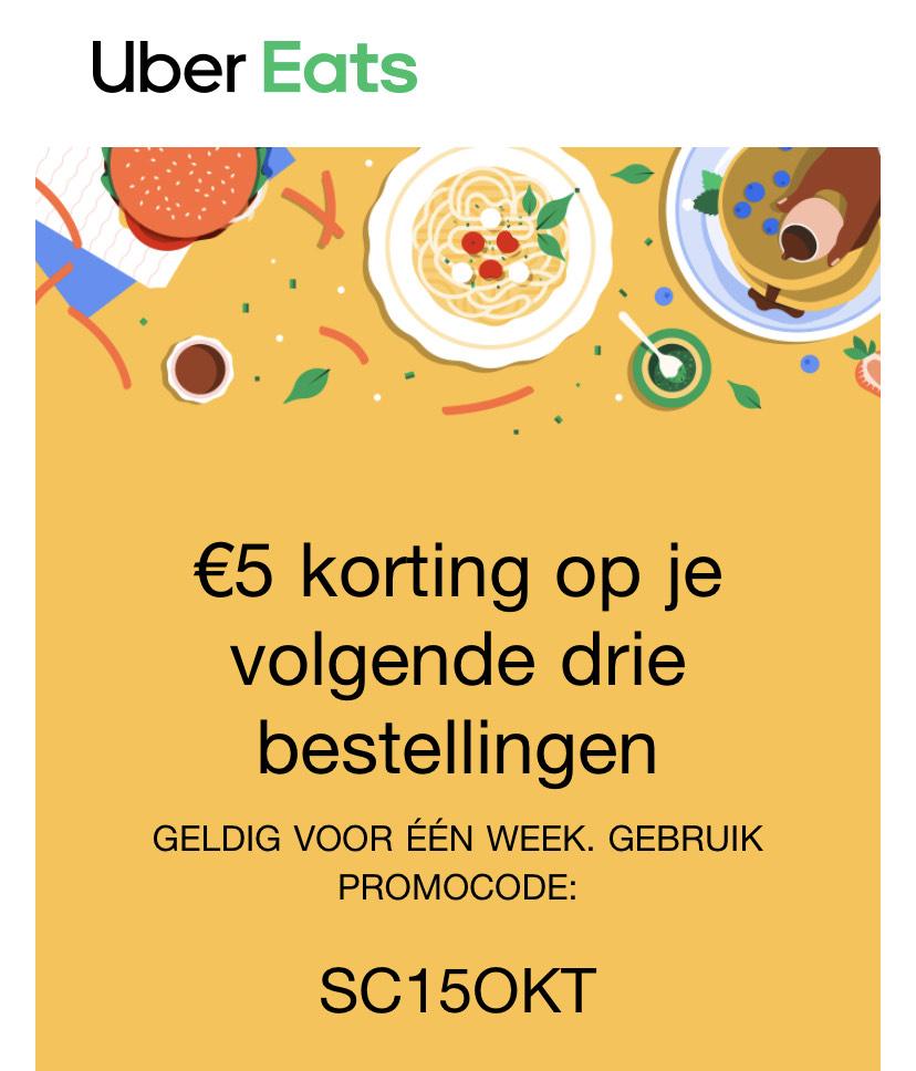 UberEats 5€ korting
