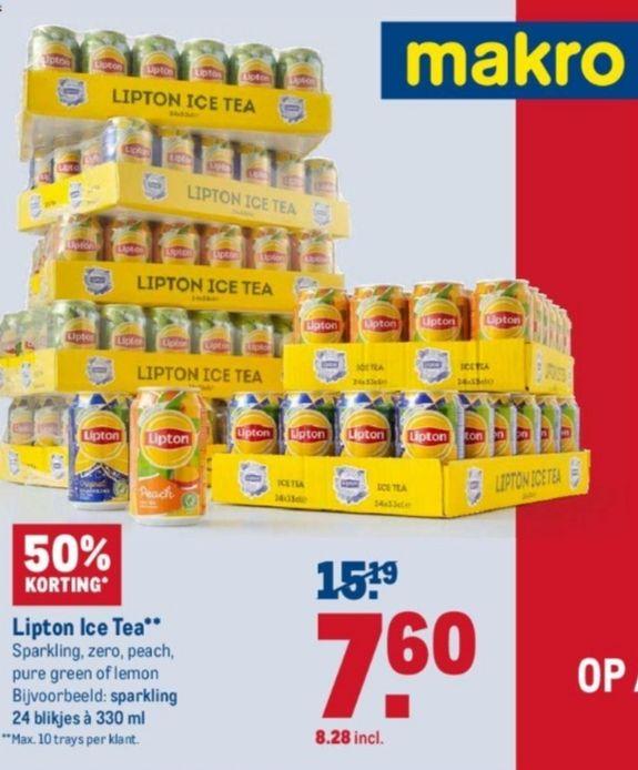 Weekend deal @makro Lipton ice tea blik