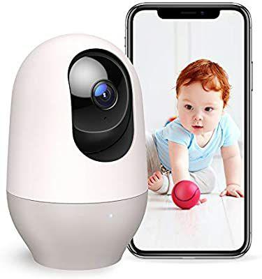 Nooie indoor WLAN-camera, IP-camera 1080P 360 graden