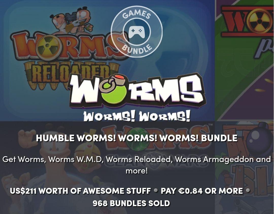 Verschillende Worms games voor een prikkie Humble Bundle