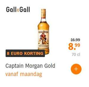 Captain Morgan 0,7L bij Gall & Gall