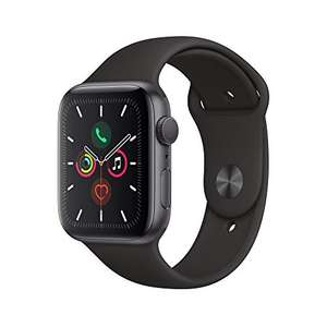 Apple Watch Series 5 (GPS, 44mm) Space Gray Aluminum - Black Sport Band