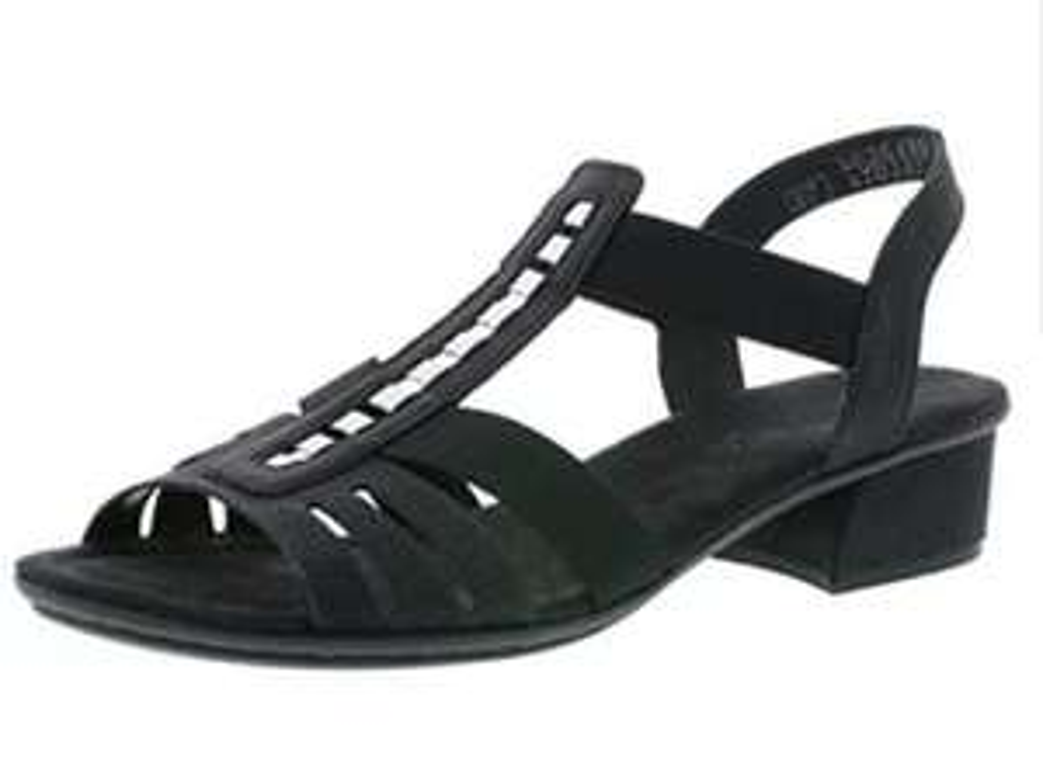 Rieker zwarte dames sandalen