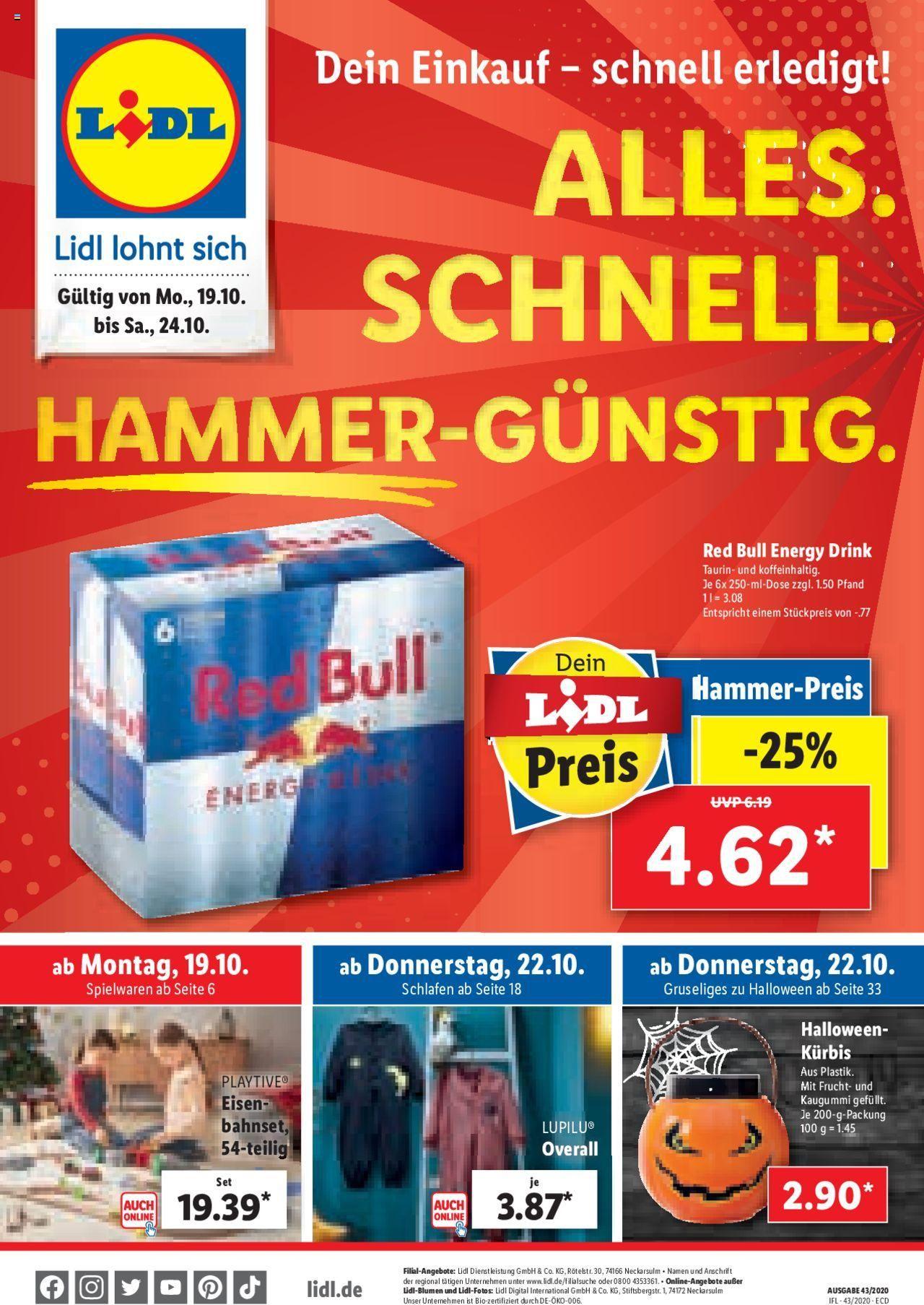 [grensdeal] 6x red bull 250ml voor €4,62 (€0,77 per blik) LIDL Duitsland