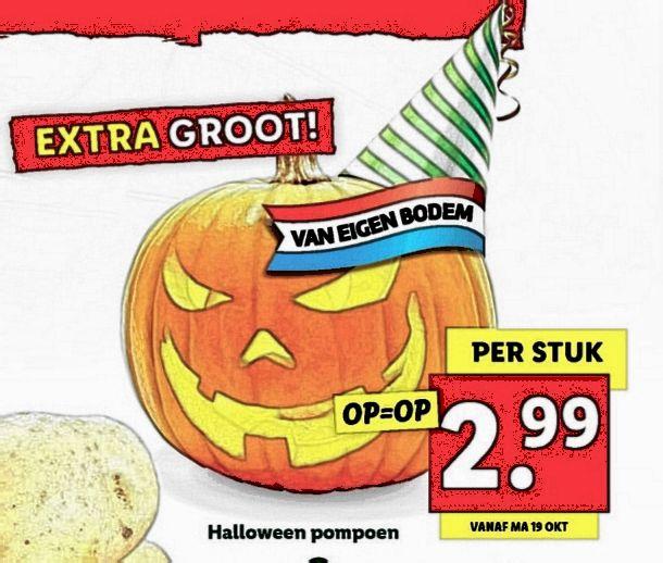 [D-DAY] HALLOWEEN pompoen @Lidl - Deel je Halloween pompoen als reactie!