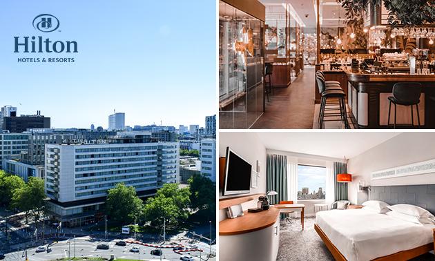 VIP Overnachting Hilton Rotterdam voor twee incl ontbijt