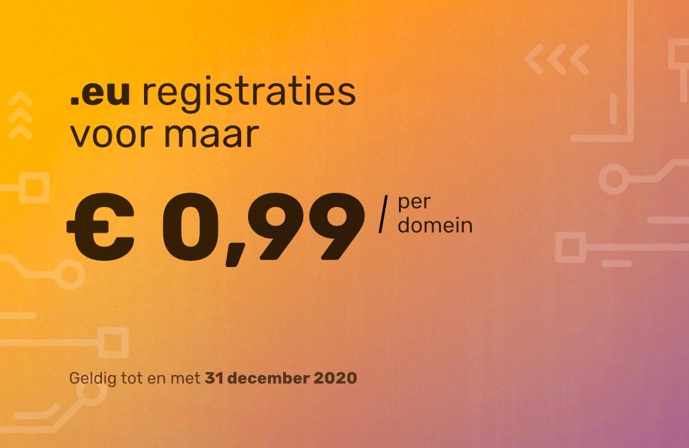 [Vimexx].EU domeinen nu voor slechts €0,99!