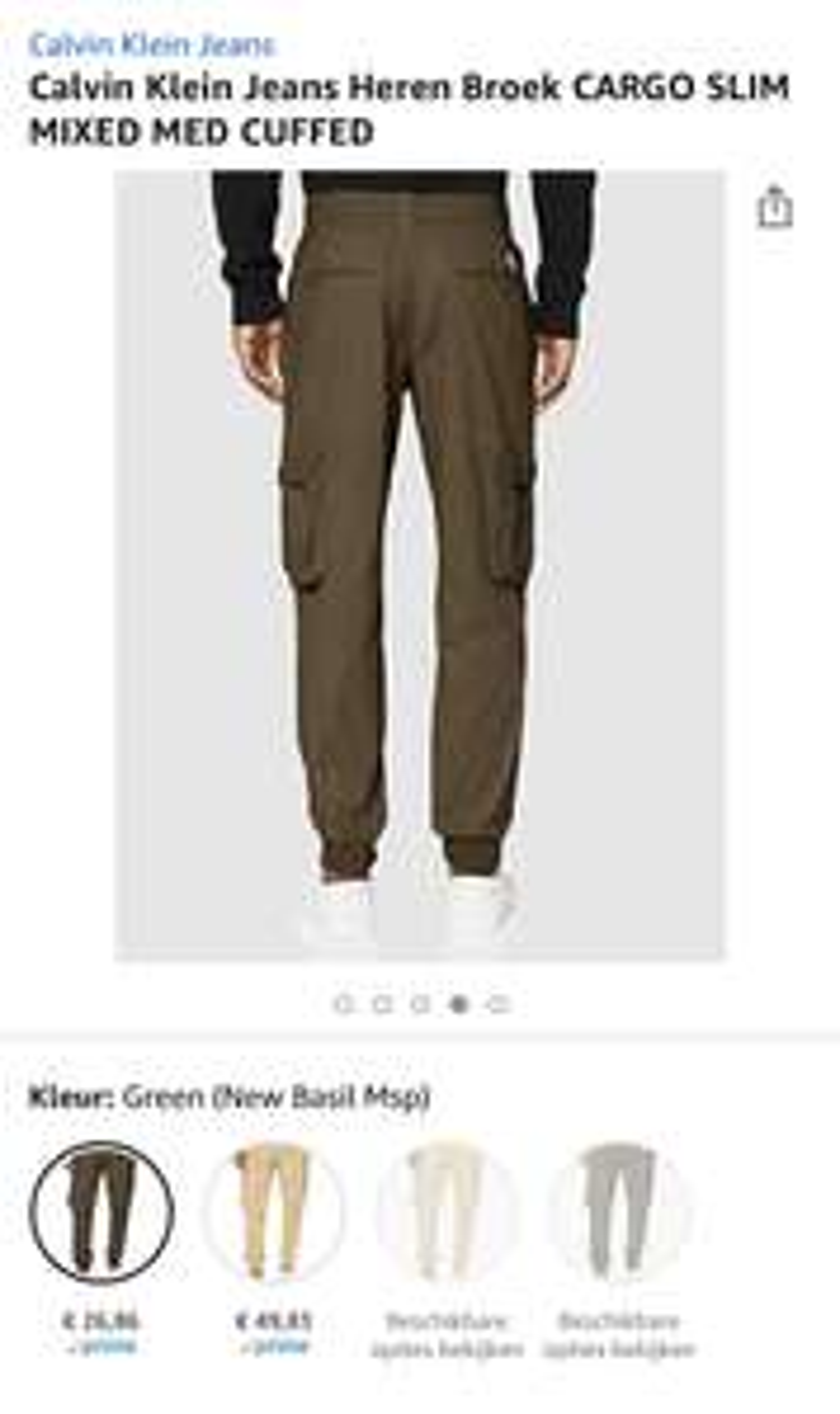 Calvin Klein Jeans Heren Broek you vanaf €26,86