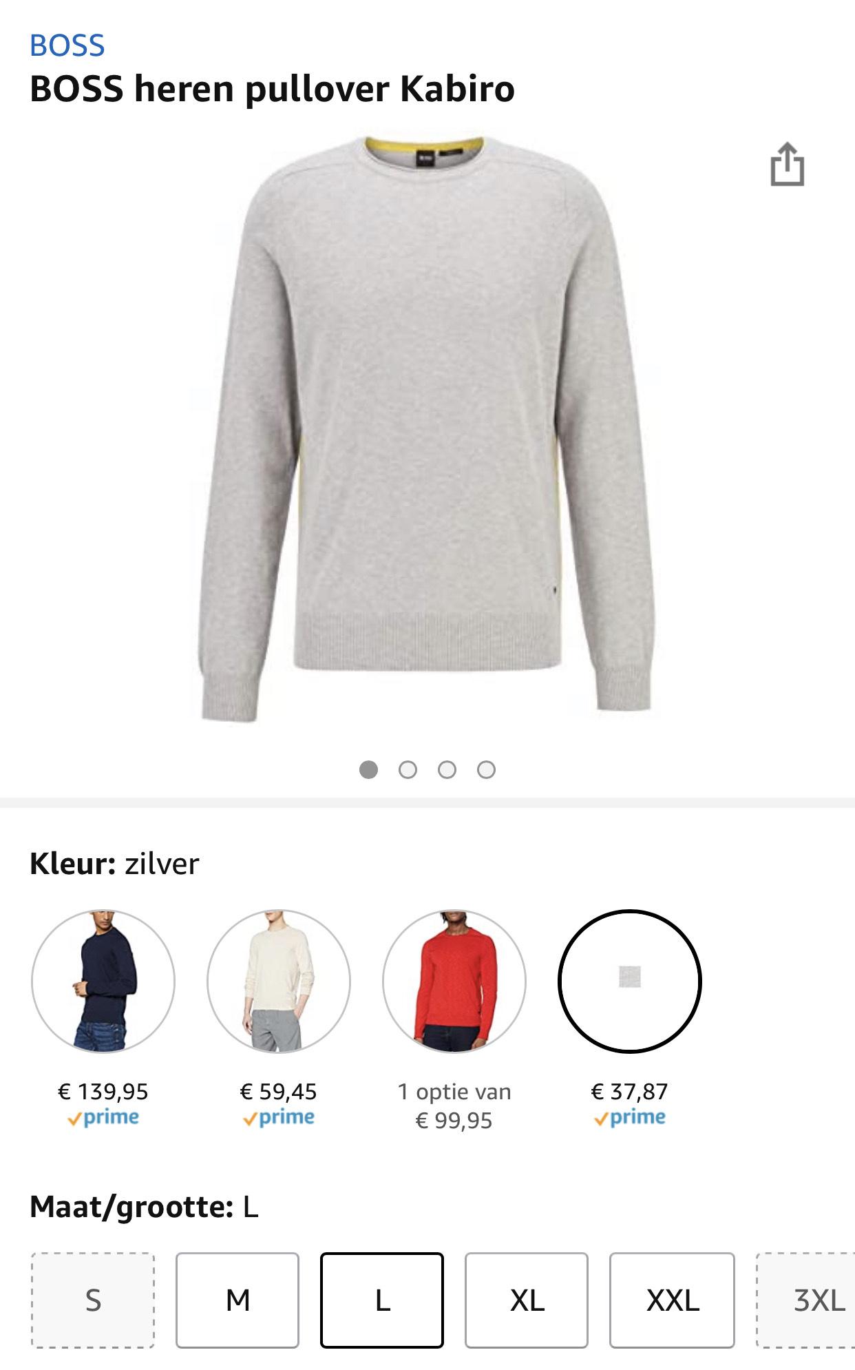 BOSS heren pullover Kabiro vanaf €37,87
