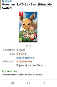 Pokemon: Let's Go Eevee! Nintendo Switch (Frans hoesje)